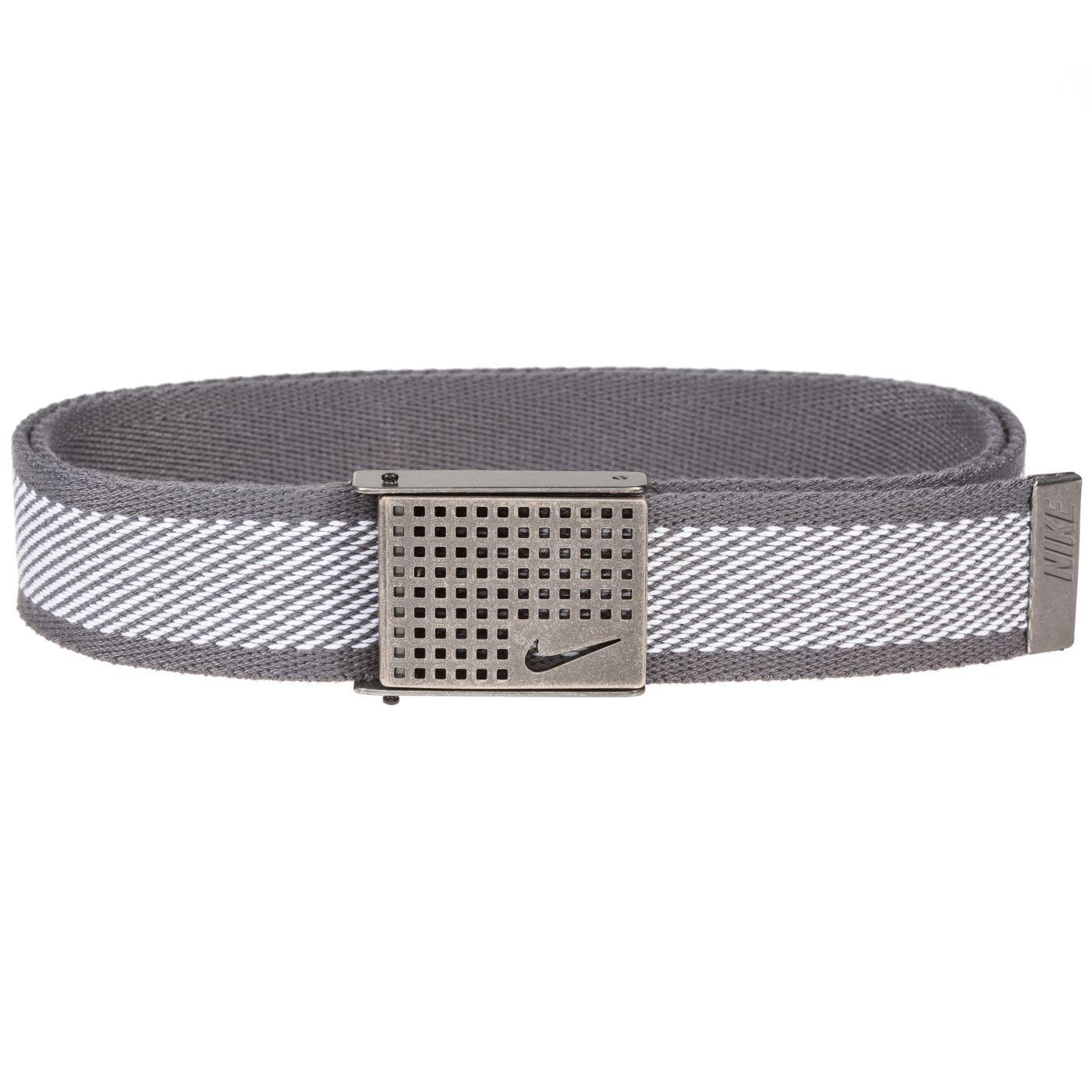 Nike Men's Diagonal Stripe Reversible Web Golf Belt