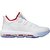 wholesale dealer a8c65 fb30a Product Image · Nike Men s Lebron 16 Low Basketball Shoes · White Metallic  Gold University Red