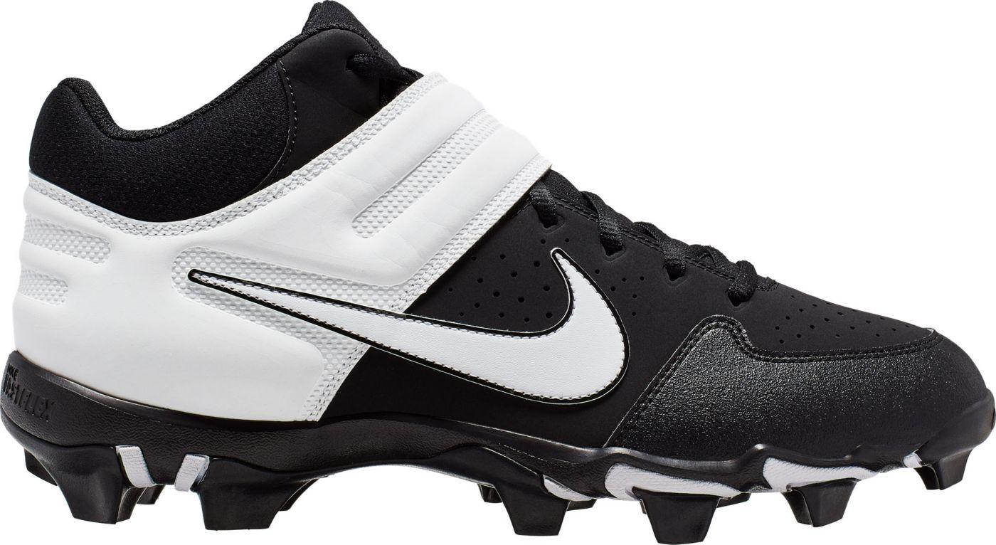 Nike Men's Alpha Huarache Varsity Keystone Mid Baseball Cleats