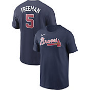 Nike Men's Atlanta Braves Freddie Freeman #5 Navy T-Shirt
