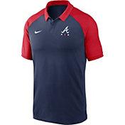 Nike Men's Atlanta Braves Navy Dri-FIT Legacy Raglan Polo