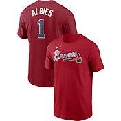 Nike Men's Atlanta Braves Ozzie Albies #1 Red T-Shirt