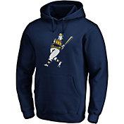 Majestic Men's Milwaukee Brewers Navy Coop Logo Pullover Hoodie