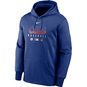 Nike Men's Chicago Cubs Blue Dri-FIT Therma Pullover Hoodie