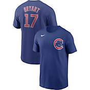 Nike Men's Chicago Cubs Kris Bryant #17 Blue T-Shirt