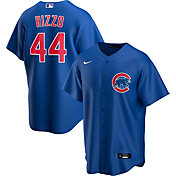 Nike Men's Replica Chicago Cubs Anthony Rizzo #44 Royal Cool Base Jersey
