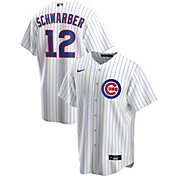 Nike Men's Replica Chicago Cubs Kyle Schwarber #12 White Cool Base Jersey