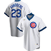 Nike Men's Chicago Cubs Ryne Sandberg #23 White Cooperstown V-Neck Pullover Jersey