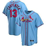 Nike Men's Replica St. Louis Cardinals Matt Carpenter #13 Blue Cool Base Jersey