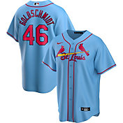 Nike Men's Replica St. Louis Cardinals Paul Goldschmidt #46 Blue Cool Base Jersey