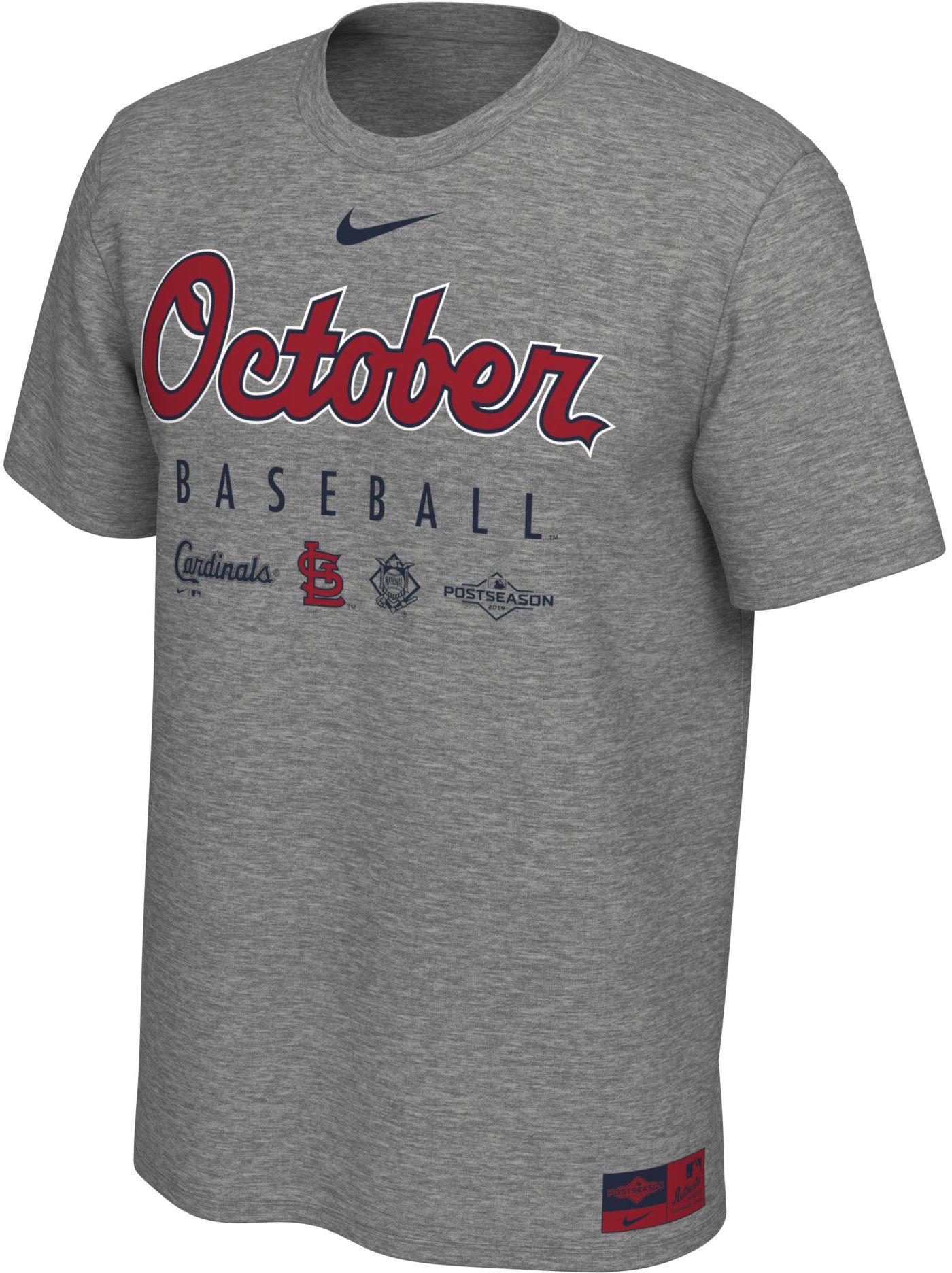"Nike Men's St. Louis Cardinals 2019 MLB Postseason ""October Baseball"" T-Shirt"