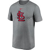 Nike Men's St. Louis Cardinals Grey Large Logo Legend Dri-FIT T-Shirt