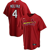 Nike Men's Replica St. Louis Cardinals Yaider Molina #4 Red Cool Base Jersey