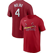 Nike Men's St. Louis Cardinals Yadier Molina #4 Red T-Shirt