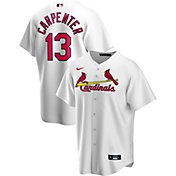 Nike Men's Replica St. Louis Cardinals Matt Carpenter #13 White Cool Base Jersey