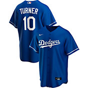 Nike Men's Replica Los Angeles Dodgers Justin Turner #10 Blue Cool Base Jersey