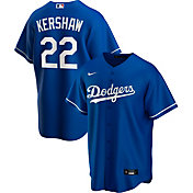 Nike Men's Replica Los Angeles Dodgers Clayton Kershaw #22 Blue Cool Base Jersey