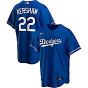 Nike Men's Replica Los Angeles Dodgers Clayton Kershaw #22 Blue Cool Base Jersey