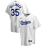 Nike Men's Replica Los Angeles Dodgers Cody Bellinger #35 White Cool Base Jersey