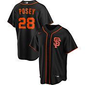 Nike Men's Replica San Francisco Giants Buster Posey #28 Black Cool Base Jersey