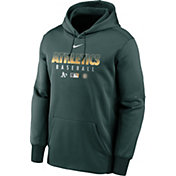 Nike Men's Oakland Athletics Green Dri-FIT Therma Pullover Hoodie