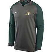 Nike Men's Oakland Athletics Grey Dri-FIT Thermal Crew T-Shirt