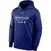 Nike Men's Los Angeles Dodgers Blue Dri-FIT Therma Pullover Hoodie