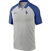 Nike Men's Los Angeles Dodgers Grey Dri-FIT Legacy Raglan Polo