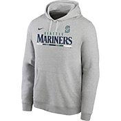 Nike Men's Seattle Mariners Grey Color Bar Club Pullover Hoodie