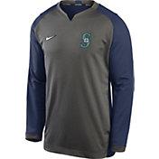 Nike Men's Seattle Mariners Grey Dri-FIT Thermal Crew T-Shirt
