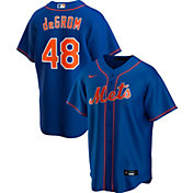Nike Men's Replica New York Mets Jacob deGrom #48 Blue Cool Base Jersey