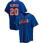 Nike Men's Replica New York Mets Pete Alonso #20 Blue Cool Base Jersey