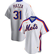 Nike Men's New York Mets Mike Piazza #31 White Cooperstown V-Neck Pullover Jersey