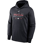 Nike Men's Cleveland Indians Navy Dri-FIT Therma Pullover Hoodie