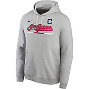 Nike Men's Cleveland Indians Grey Color Bar Club Pullover Hoodie