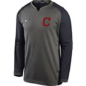 Nike Men's Cleveland Indians Grey Dri-FIT Thermal Crew T-Shirt