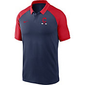 Nike Men's Cleveland Indians Navy Dri-FIT Legacy Raglan Polo