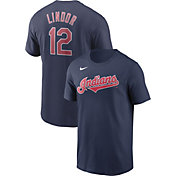 Nike Men's Cleveland Indians Francisco Lindor #12 Navy T-Shirt