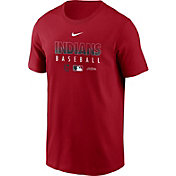 Nike Men's Cleveland Indians Red Dri-FIT Baseball T-Shirt