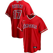 Nike Men's Replica Los Angeles Angels Shohei Ohtani #17 Red Cool Base Jersey