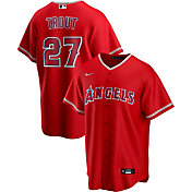 Nike Men's Replica Los Angeles Angels Mike Trout #27 Red Cool Base Jersey