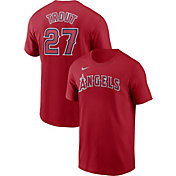 Nike Men's Los Angeles Angels Mike Trout #27 Red T-Shirt
