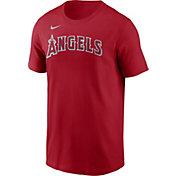 Nike Men's Los Angeles Angels Red Wordmark Legend T-Shirt