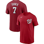 Nike Men's Washington Nationals Trea Turner #7 Red T-Shirt