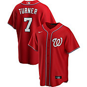 Nike Men's Replica Washington Nationals Trea Turner #7 Red Cool Base Jersey