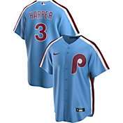 Nike Men's Replica Philadelphia Phillies Bryce Harper #3 Blue Cool Base Jersey