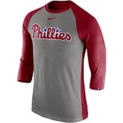 Nike Men's Philadelphia Phillies Dri-FIT Raglan Three-Quarter Sleeve Shirt