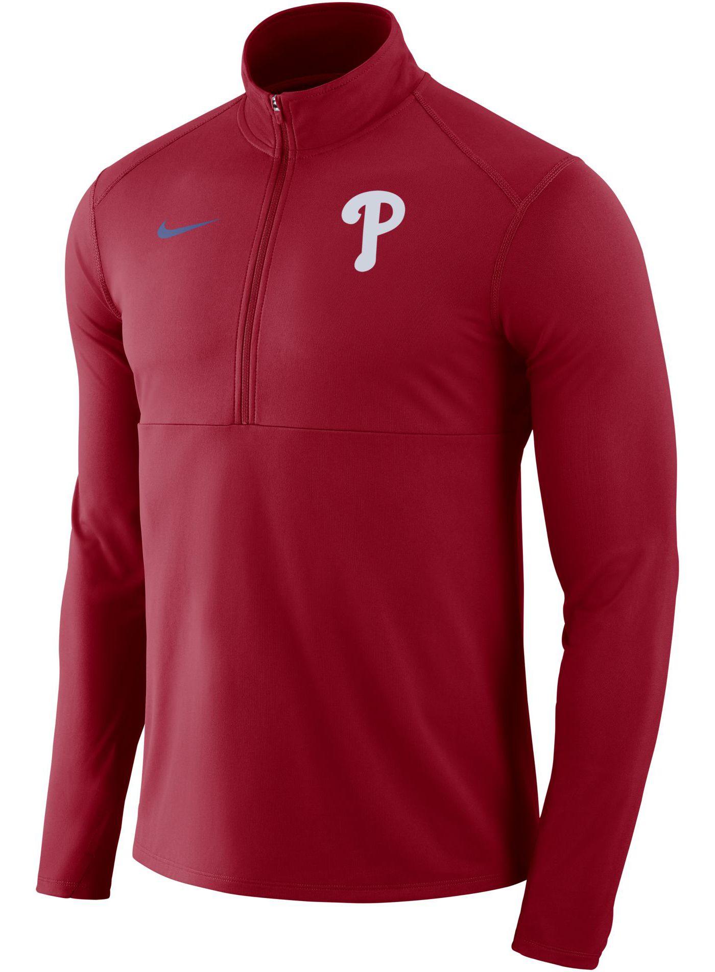 Nike Men's Philadelphia Phillies Dri-FIT Element Half-Zip Jacket