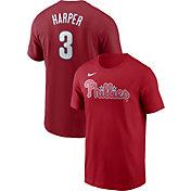Nike Men's Philadelphia Phillies Bryce Harper #3 Red T-Shirt