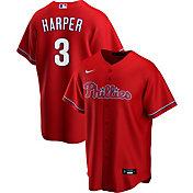 Nike Men's Replica Philadelphia Phillies Bryce Harper #3 Red Cool Base Jersey